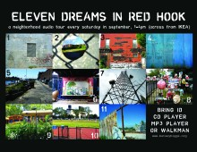 PARK BENCH CINEMA: 11 DREAMS IN RED HOOK<br />public sound art, 2008